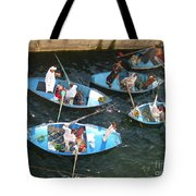 Egyptian Entrepreneurs At The Canal Locks Tote Bag