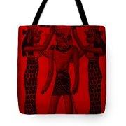 Pharaoh Atem Red Tote Bag