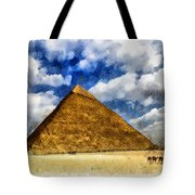 Egyptian Pyramid Tote Bag