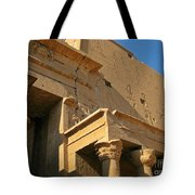 Egyptian Temple Architectural Detail Tote Bag