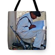 Egytian Security Relaxes Before The Spring Tote Bag