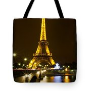 Eiffel At Night Tote Bag