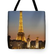 Eiffel At Twilight Tote Bag