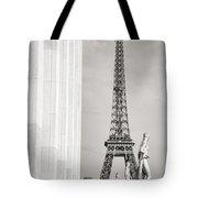 Eiffel Tour Paris Black And White Tote Bag