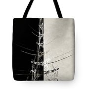 Eiffel Tower Abstract Bw Tote Bag