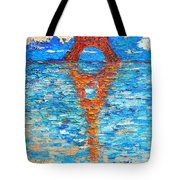 Eiffel Tower Abstract Impression Tote Bag