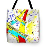 Eiffel Tower Abstract - Paris France Tote Bag
