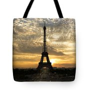 Eiffel Tower At Sunset Tote Bag