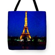 Eiffel Tower Expressive Tote Bag