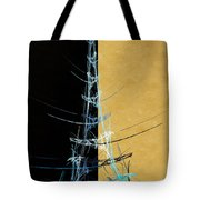 Eiffel Tower In Blue Abstract Tote Bag