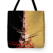 Eiffel Tower In Red On Gold  Abstract  Tote Bag