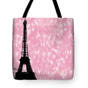 Eiffel Tower - Love In Paris Tote Bag