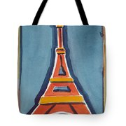 Eiffel Tower Orange Blue Tote Bag