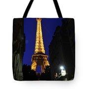 Eiffel Tower Paris France At Night Tote Bag