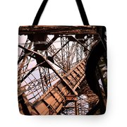 Eiffel Tower Paris France Close Up Tote Bag