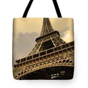 Eiffel Tower Paris France Sepia Tote Bag by Patricia Awapara