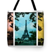 Eiffel Tower Paris France Trio Tote Bag