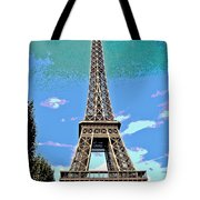 Eiffel Tower Posterized Tote Bag