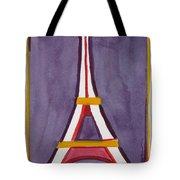Eiffel Tower Purple Red Tote Bag