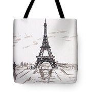 Eiffel Tower Rainy Day Tote Bag