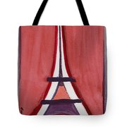 Eiffel Tower Red White Tote Bag
