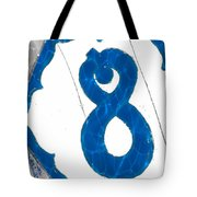 Eight Blue Tile Tote Bag