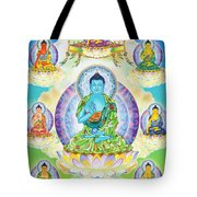 Eight Brothers Of The Medicine Buddha Tote Bag