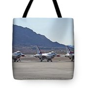 Eight F-16 Thunderbird Falcon's On Static Display Nellis Tote Bag