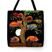 Eight Tree Cats Tote Bag