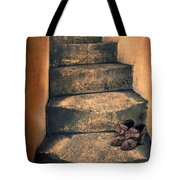 Eighteenth Century Shoes On Old Stairway Tote Bag