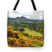 Eildon Hill - Three Peaks And A Valley Tote Bag