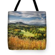 Eildon Hills In Autumn Tote Bag