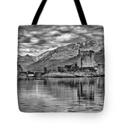 Eilean Donan - A Reflection Without Colour Tote Bag