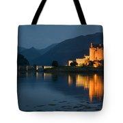Eilean Donan Castle At Night Tote Bag