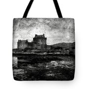 Eilean Donan Castle In Scotland Bw Tote Bag by RicardMN Photography