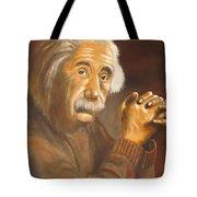 Einstein - Original  Oil Painting Tote Bag