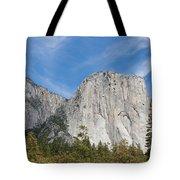 El Capitan And The Wall Of Granite Tote Bag