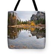 El Capitan Reflected In The Merced River Tote Bag