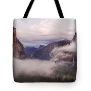 El Capitan Rises Over The Clouds Tote Bag
