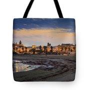 El Rompidillo Beach Panorama Cadiz Spain Tote Bag