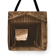 Elder Mill Covered Bridge Tote Bag