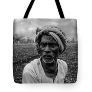 Elderly Indian Farmer Tote Bag