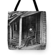 Elderly Man Doses On His Porch Tote Bag