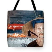 Elderly Vietnamese Woman Wearing A Conical Hat Altered Version Tote Bag