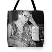 Elderly Woman At Hospital Tote Bag