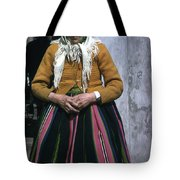 Elderly Woman Tote Bag
