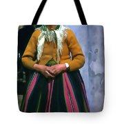 Elderly Woman Stylized Digital Art Tote Bag
