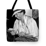 Eleanor Roosevelt Knitting Tote Bag by Underwood Archives