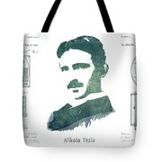 Electric Arc Lamp Patent Art Nikola Tesla Tote Bag