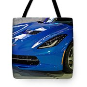 Electric Blue Corvette Tote Bag